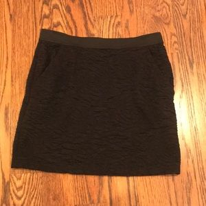 Mini black pencil skirt with pockets size MEDIUM